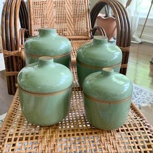 Nesting Avocado Green Kitchen Canisters 🥑